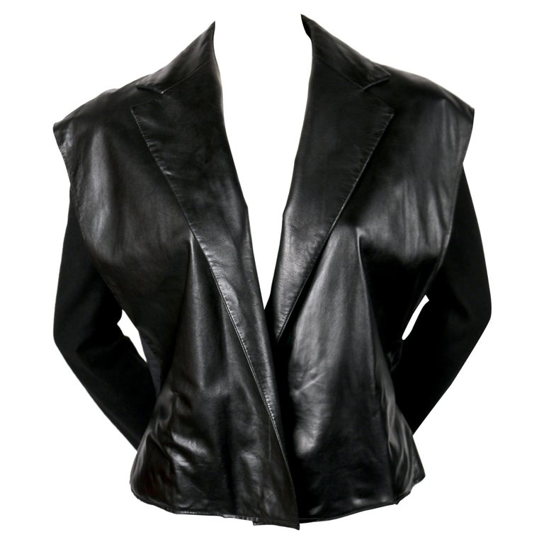 Nicolas Ghesquiere for Balenciaga runway leather jacket, 1999