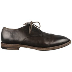 MARSELL Size 8 Brown Leather Lace Up Derbys Shoes
