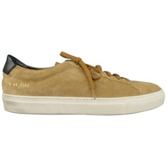 COMMON PROJECTS Size 11 Tan Suede Low Top Sneakers / Trainers / Shoes