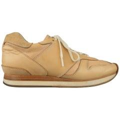 HENDER SCHEME Size 9.5 Tan Vachetta Leather MIP-08 Sneakers