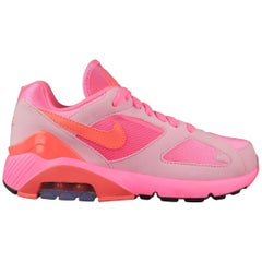 COMME des GARCONS Nike Size 5.5 Neon Pink Nylon Air Max 180 Sneakers Trainers