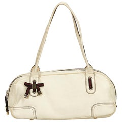 Gucci White Leather Princy Shoulder Bag