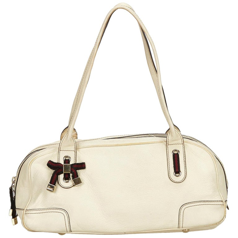 0103f81aea3 Gucci White Leather Princy Shoulder Bag For Sale at 1stdibs