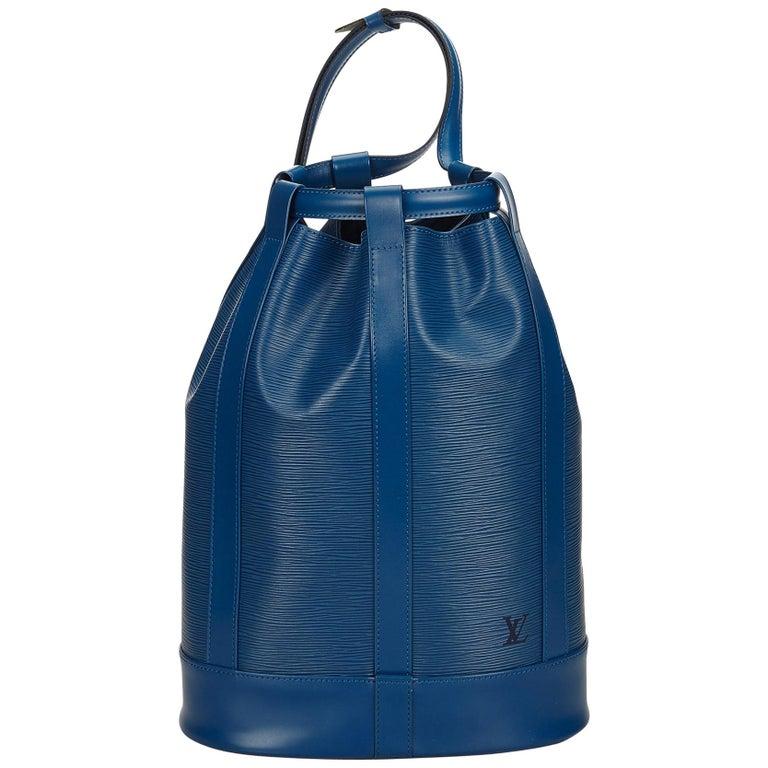 Louis Vuitton Blue Epi Randonnee Pm For Sale At 1stdibs