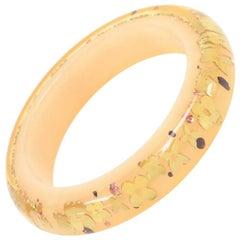 Louis Vuitton Beige Resin Inclusion Bangle Bracelet