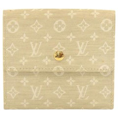 Louis Vuitton Dune Off White Monogram Idylle Trifold Wallet