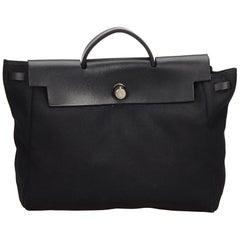 Hermes Black Herbag MM