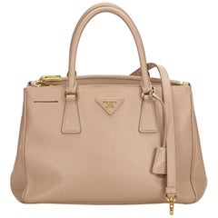 Prada Beige Galleria Leather Satchel