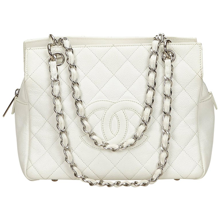 34e4c4d41f0a Chanel White Caviar Petite Timeless Tote at 1stdibs