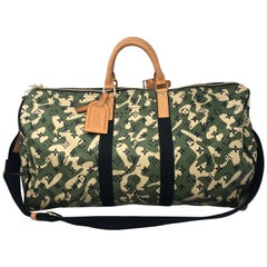Louis Vuitton Limited Edition Monogramouflage Canvas Keepall 55