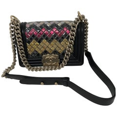 Chanel Black Multi Sequins Boy Bag