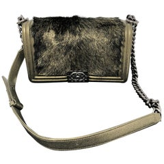 Chanel Gold Boy Flapbag Fur