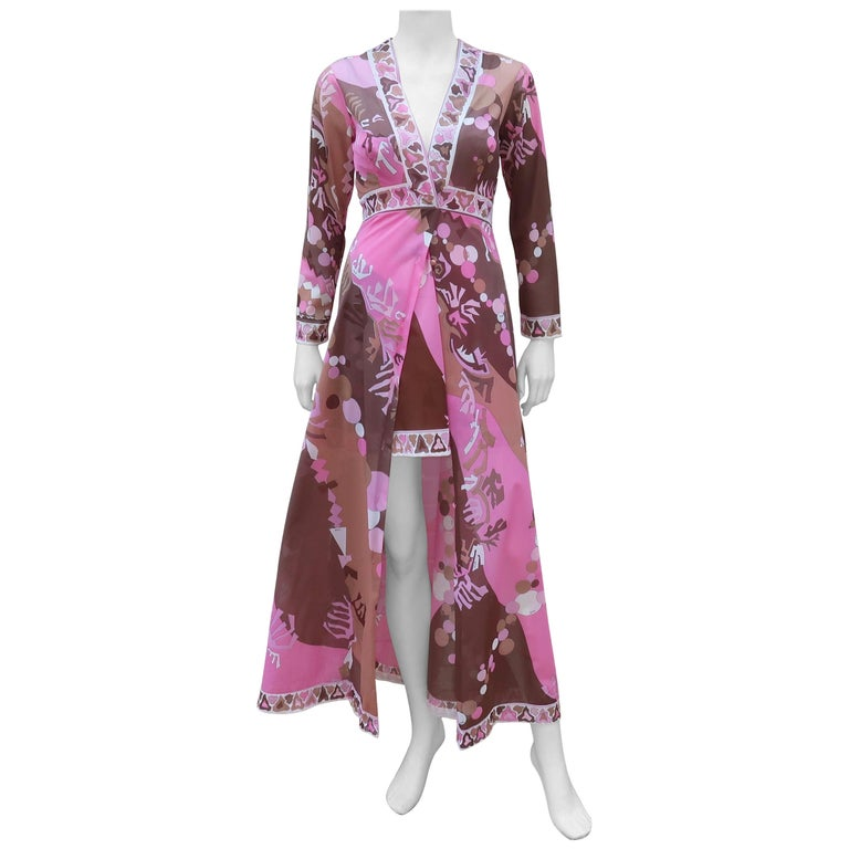 Emilio Pucci for Formfit Rogers Peignoir Gown and Robe Set, 1960s ...