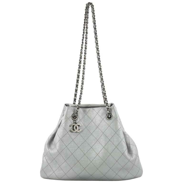 Chanel CC Bucket Bag Quilted Calfskin Medium at 1stdibs 929c9d179ee62