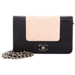 Chanel Mademoiselle Vintage Wallet on Chain Quilted Sheepskin