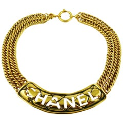 Chanel Vintage Iconic Cut Out Choker Necklace