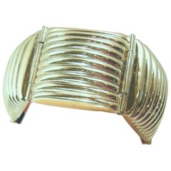 Signed Vintage Poggi Paris Ribbed Bracelet
