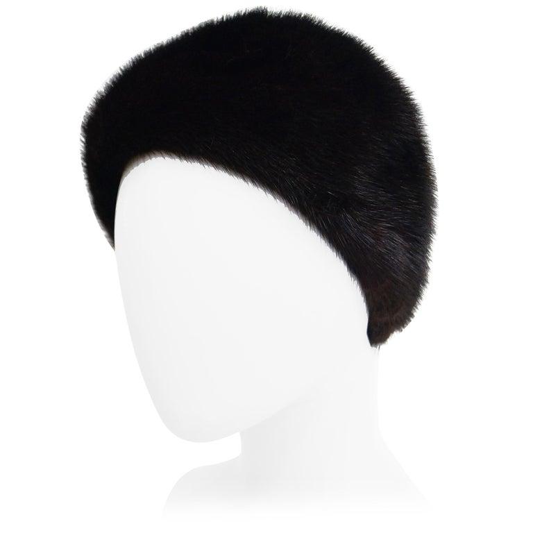 Dior Mink Chapeau Fur Hat, 1950s  For Sale