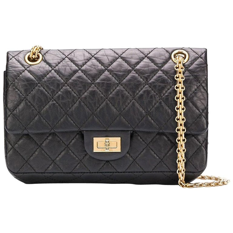 68bbf45ce86584 Chanel Timeless Small 2.55 Bag For Sale. Crafted from aged black calfskin  leather ...