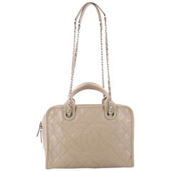 Chanel Deauville Bowling Bag Quilted Caviar Large
