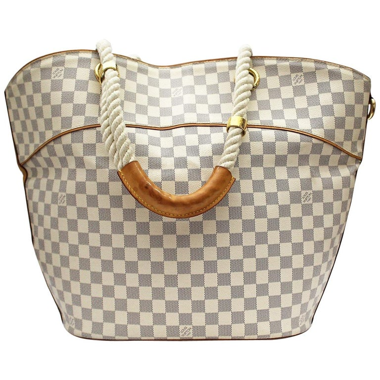 fa242a502724 LOUIS VUITTON Azur Damier Canvas Pampelonne GM Bag at 1stdibs