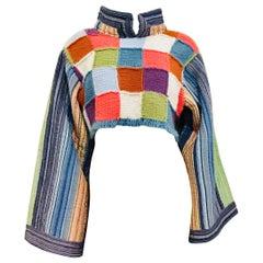 Multi Colored Blanket Crop Top