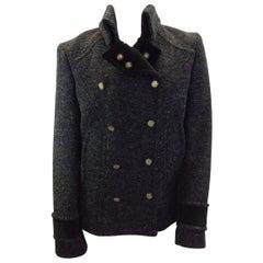 Dolce & Gabbana Grey Tweed Wool Jacket