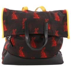 Prada Convertible Backpack Printed Tessuto