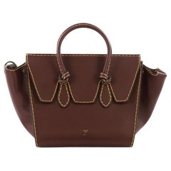Celine Tie Knot Tote Smooth Leather Small