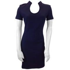 St. John Navy Blue Knit Dress