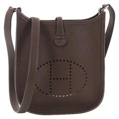 Hermes Long Strap Evelyne Crossbody Bag Epsom TPM