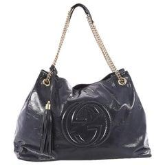 Gucci Soho Chain Strap Shoulder Bag Patent Large