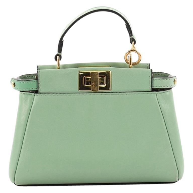 51b82a925558 ... sweden fendi peekaboo handbag leather micro for sale 91957 4ecfc