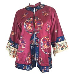 Chinese Silk Embroidered Jacket, Circa 1920