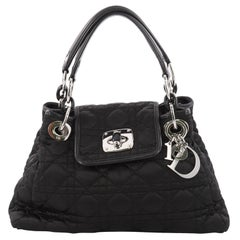 Christian Dior Charming Lock Tote Cannage Quilt Nylon Small