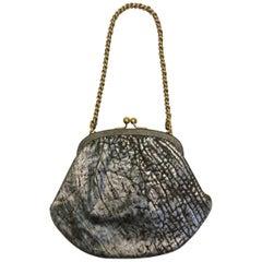 Dolce & Gabbana Bronze Leather Handbag