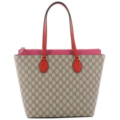 Gucci Linea A Zip Tote GG Coated Canvas Medium