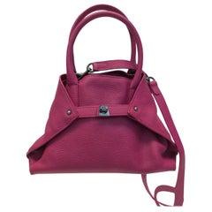 Akris Fuchsia Leather Micro-Messenger Bag