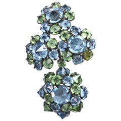 Blue Schreiner Brooch / Movement