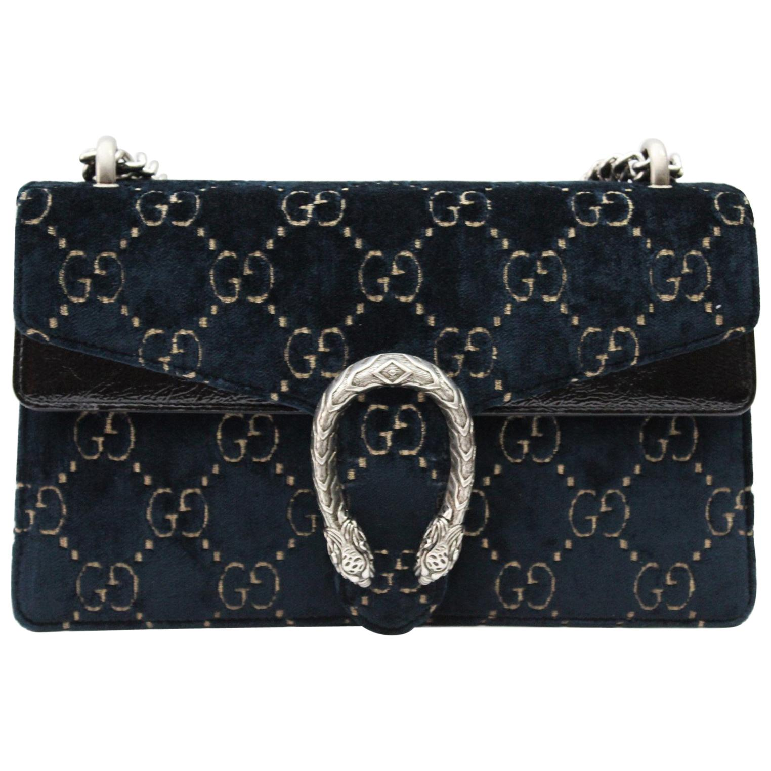 634165fa7f75 Gucci Shoulder Bag Dionysus Velvet GG at 1stdibs