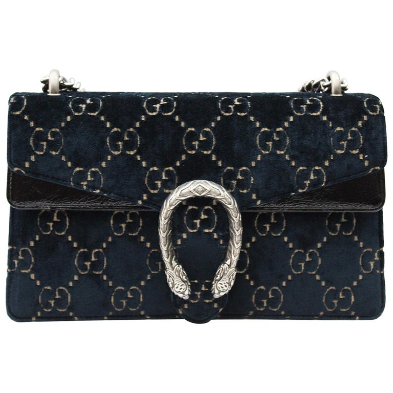 efd5a5b4ba14da Gucci Shoulder Bag Dionysus Velvet GG at 1stdibs