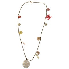 Chanel Necklace with Lucite and Swarovski Crystal Charms
