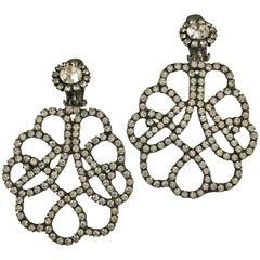 Kenneth Jay Lane K.J.L. Large Earrings, 1960s