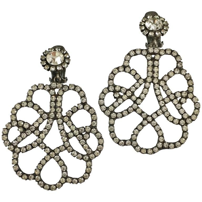 Kenneth Jay Lane K.J.L. Large Earrings, 1960s  For Sale
