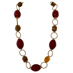 Francoise Montague Paris Chunky French Galalith Necklace