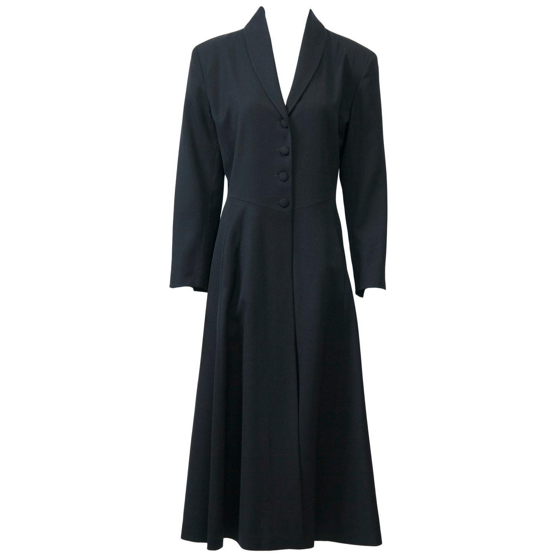 Agnes B Lightweight Black Wool Coat