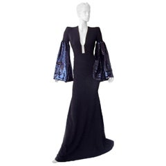 "Alex Perry Show Stopper ""Veronica"" Gown w/Dramatic Swantail Train Dress"