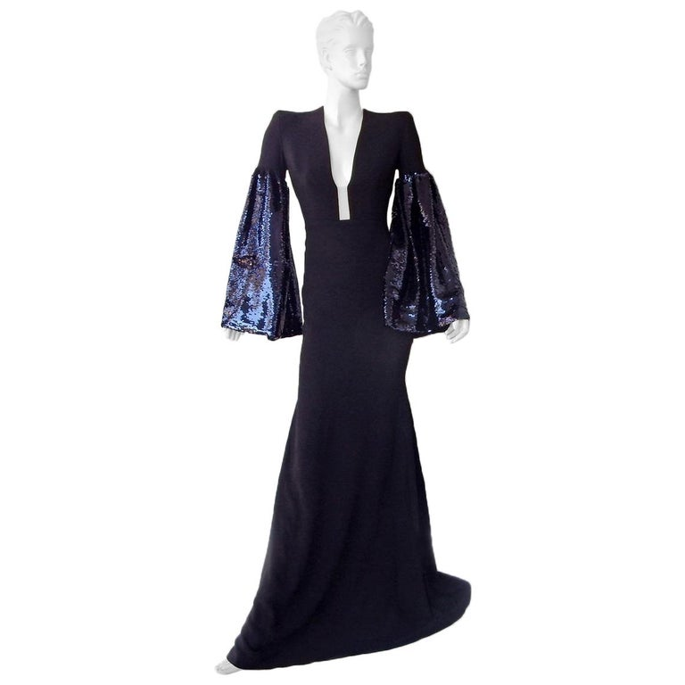 "Alex Perry Show Stopper ""Veronica"" Gown w/Dramatic Swantail Train Dress For Sale"
