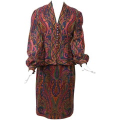 Pauline Trigère Paisley Two-Piece Suit / Dress