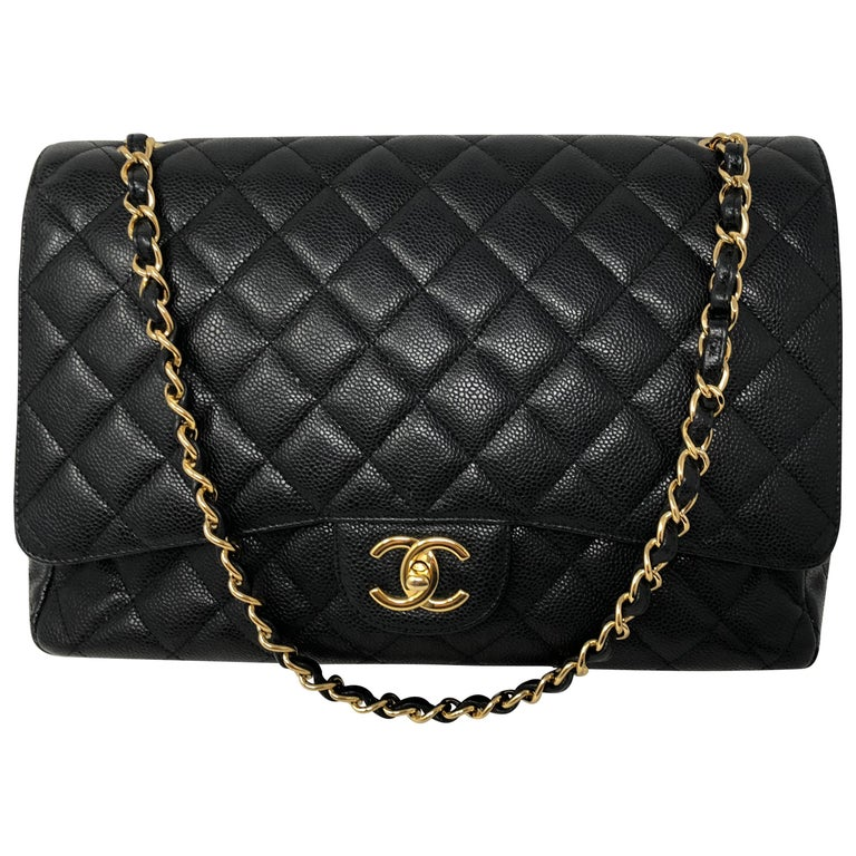 ff15192169 Chanel Maxi Black Caviar GHW Double Flap at 1stdibs